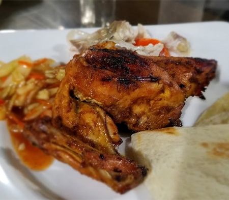 Nan Ruti With Grilled Chicken in Sampan Cafe