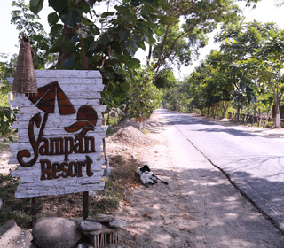 Sampan Eco Resort Sign